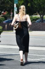 Dakota Fanning At the vet in LA
