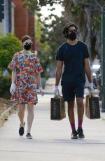 Dev Patel & Tilda Cobham-Hervey Seen wearing masks as they go shopping at Erewhon Market in West Hollywood