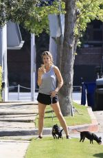 Elisabetta Canalis Takes her two dogs for a walk in LA