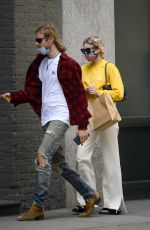Elsa Hosk Returning to her apartment in NYC