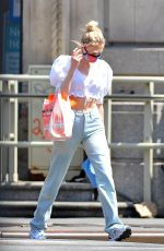Elsa Hosk Steps out for Some Pet Food in New York City
