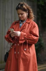 Emily Atack Out and about, London