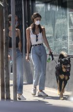 Emily Ratajkowski Picking up Colombo from the vet in Los Angeles