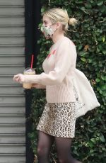 Emma Roberts Picking up an iced coffee in Los Angeles
