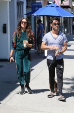 Emma Slater and Sasha Farber out for a walk without masks