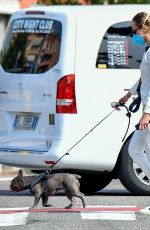 Federica Pellegrini Seen with her dog in Verona