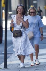 Francesca Allen Out and about in Knightsbridge on day out with her friends