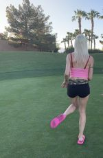 Frenchy Morgan and Playmate Tifanni Madison spend Memorial Day distracting golfers