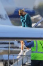 Hailey Bieber & Justin Bieber Checkec by border officials as they land at Van Nuys Airport in Los Angeles