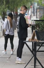Hailey Bieber Stops at Backyard Bowls to get an Acai Bowl to go in West Hollywood