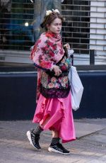 Helena Bonham Carter Out walking after getting essentials from the local shop in Hampstead