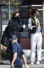 Helena Christensen Hits up a park for some fresh air in New York