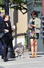 Helena Christensen Was summertime chic when she stepped out for a dog walk in New York City