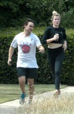 Ireland Baldwin Stays fit with a run near her home in Los Angeles