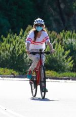 Isla Fisher At a Bike Riding in Hollywood Hills