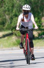 Isla Fisher Out for a bike ride in LA