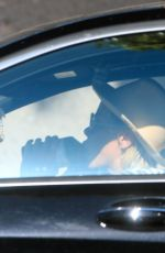 Jaime King Pictured in her car drinking a Health-Ade Kombucha in West Hollywood