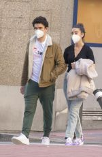 Jaime Lorente & Maria Pedraza Wear matching face masks while going for a walk around town together in Madrid