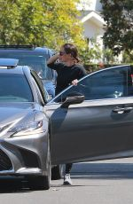 Jennifer Garner At a drive-by birthday party in Pacific Palisades