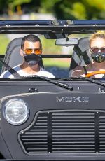 Joe jonas & Sophie Turner Take their new ride for a spin in Los Angeles