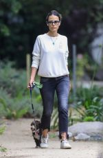 Jordana Brewster Goes braless during a solo stroll in Los Angeles