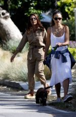 Jordana Brewster Has a good time taking her new puppy on a walk near her Pacific Palisades
