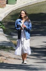 Jordana Brewster Out for a stroll in Brentwood
