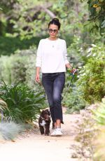 Jordana Brewster Out for a walk in Los Angeles