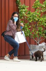 Jordana Brewster Out in Brentwood with her dog
