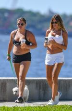 Kelly Bensimon Goes for a walk on a beautiful Florida day with her daughter while on lockdown in Palm Beach