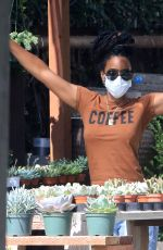 Kelly Rowland Shopping for house plants in LA