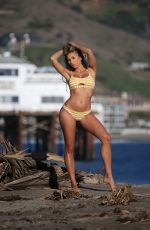 Khloe Terae Shows off her sexy bikini body while she shoots a sexy 138 Water advert in Malibu
