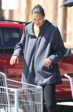 Lais Ribeiro Grocery shopping at Vintage Grocers in Malibu, California