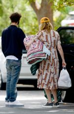 Laura Dern Drops off blankets and pillows to her son in Los Angeles