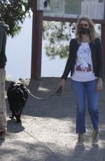Laura Dern Out with her dog in Los Angeles