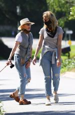 Laura Dern Steps out to take a casual walk with her friend Kate Capshaw on the morning near her Pacific Palisades home