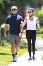 Lea Michele Out for a walk in Los Angeles