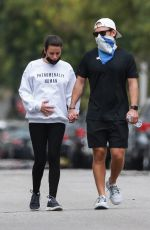 Lea Michele Steps out for a sunshine walk with her husband Zandy Reich in Los Angeles