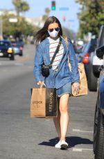 Lily Collins Grocery shopping in LA