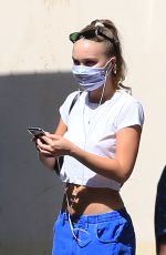 Lily Rose Depp Strolling in Paris
