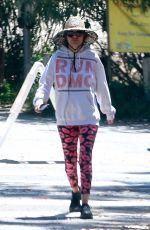 Lisa Rinna Seen wearing a Run DMC hoodie while out for a hike in Los Angeles