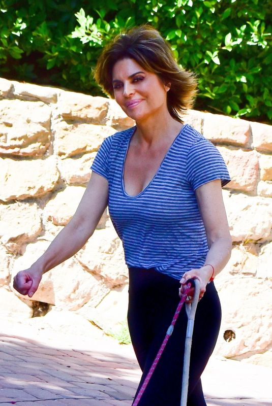 Lisa Rinna Takes her dogs out for a walk in Beverly Hills