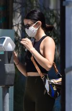 Lucy Hale At a gas station in Studio City