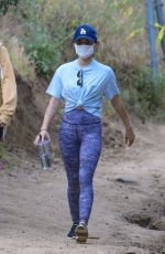 Lucy Hale Goes for a hike with a friend at Fryman Canyon in Studio City