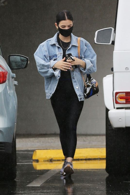 Lucy Hale Going to an appointment in LA