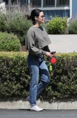 Lucy Hale Heading to the dog park in LA