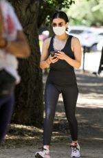 Lucy Hale Hiking in Hollywood Hills