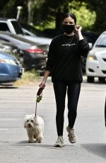 Lucy Hale Out walking in Studio City