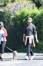 Maria Shriver And son Patrick Schwarzenegger taking a walk with the dogs on Mother