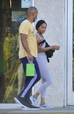 Meagan Good Outside a smoke shop in West Hollywood